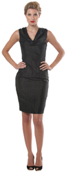 Taffeta Cowl Neck Dress