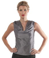 Taffeta  Cowl Neck Top