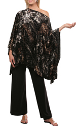 Burnout Velvet Slash Neck Kaftan