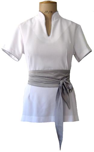 Catherine moore spa uniforms for Spa uniform cotton